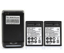 2x 2000mah Battery + Wall Charger for Samsung Galaxy Nexus i9250 Nexus Prime