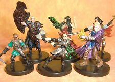Dungeons & Dragons Miniatures Lot  Player Character Party Unique !!  s108
