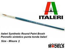 Italeri Pennello Paint Sintetico Tondo 2 - Round Brush Per Modellismo Nuovo New