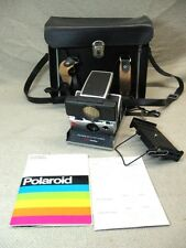 VINTAGE POLAROID SX-70 LAND CAMERA SONAR ONE STEP Black parts or repair
