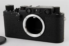 MINT!! Extremely Rare!! Leica IIIf Camera Body Repainted Black From JAPAN #0746