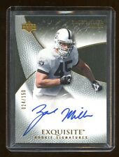 2007 EXQUISITE ZACH MILLER BASE RC AUTOGRAPH /150 AUTO  BEARS STAR TE    RARE
