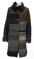NEW $2240 ETRO HEAVY-KNIT CARDIGAN COAT OVERSIZE COLLAR WOOL VERY WARM 40 - 4