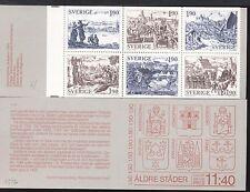SWEDEN - SVEZIA - Libretto - 1984 - Antiche città. Riproduzioni di  incisioni