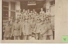 Soldats allemands devant cantine  guerre 14-18 photo sur CPA lot 42