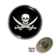 Jolly Roger Flag Pin Badge Pirates Skull Crossbones Brand New
