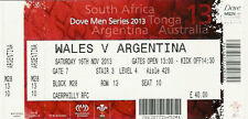 Wales v Argentina 16 Nov 2013 RUGBY TICKET