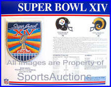 SUPER BOWL 14 Steelers / Rams 1980 Willabee Ward OFFICIAL SB XIV NFL PATCH CARD