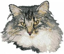 Large Embroidered Zippered Tote - Norwegian Forest Cat AED16410 Sizes S - XXL