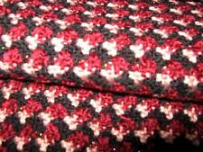 Dents Burgundy Red black pink gold Houndstooth check tassel Wool Winter scarf