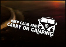 KEEP CALM Car Decal Sticker VW Camper Bus Transporter Aircooled T1 T25 T4 T5