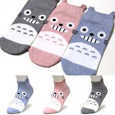 TOTORO 3Pairs Cartoon Character Socks Women Girl Big Kids Cute Socks Korea Socks