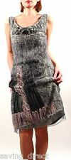New SAVE THE QUEEN Mohair Scoop Neck Sleeveless Embellished Sheath Dress Size M