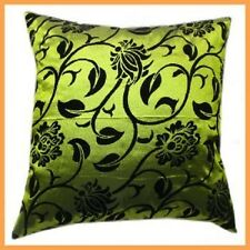 1 x green taffeta cushion cover pillow case home bed decor satin silk gift sofa
