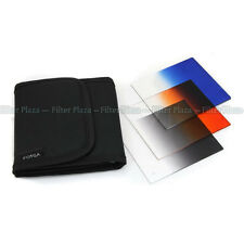 3pcs Gradual Graduated Blue Grey Orange Color filter Case Kit for Cokin P Series