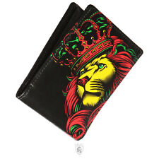OG Abel Crown Rasta Tattoo Art Lion King Goth Punk Animal Black Wallet WT009