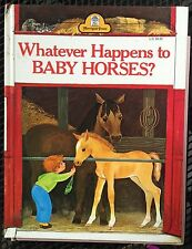Whatever Happens to Baby Horses? by Bill Hall c1965 VGC Hardcover