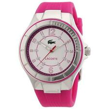 Lacoste 2000759 Lady's White Dial Pink Silicone Strap Quartz Watch