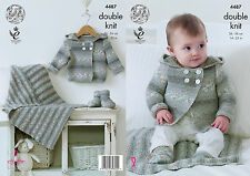 KINGCOLE 4487 BABY DK KNITTING PATTERN  14-22IN -not the finished garments
