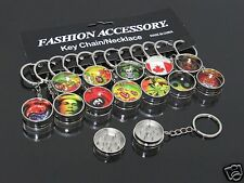 1pcs Portable KEY CHAIN 2 PART Manual Herb Spice Grinder Tobacco Grinders #154