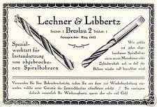 Bohrer Reparatur Lechner & Lippertz Reklame 1923 Spiralbohrer abgebrochen Ad