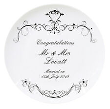 WEDDING or SILVER RUBY ANNIVERSARY PERSONALISED PLATE Unique Unusual Gift Idea