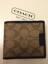 NWT COACH HERITAGE SIGNATURE WALLET WITH SNAP COIN CASE