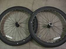 FIXIE Fixed Road Bike Flip-Flop BICYCLES WHEEL RIM TIRE Front & Rear Matte black