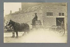 New Ulm MINNESOTA RP c1910 F.H. WENDT DRAY DELIVERY WAGON Street Scene