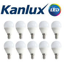 10x Kanlux E14 LED Golf Ball Globe Light Bulb Lamp 6.5W 3000K Warm White 600 Lm