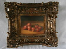 RICH OLD WORLD DELICIOUS RIPE RED JUICY STRAWBERRY FRUIT STILL LIFE PAINTING