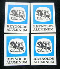 "REYNOLDS ALUMINUM DECAL LOT OF 4 ~ ADVERTISING COMPANY 2 7/8"" x 3 1/2"" NOS"