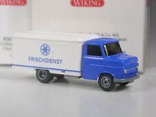 TOP: Wiking Opel Blitz Eckhauber Tiefkühlwagen Frischdienst weiß-blau in OVP
