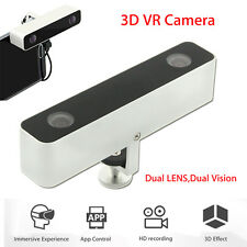 VR 3D Camera Dual Lens Virtual Reality Camcorder for Samsung S7 S6 S5 Dual 720P