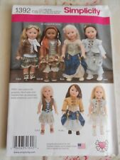 """Simplicity 18"""" Doll Steampunk Clothes Sewing Pattern 1392"""