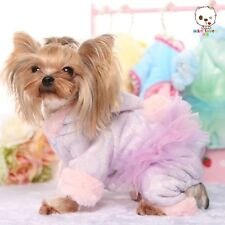 Clothing For Dogs Pet Puppy Dog Clothes Lace Warm Dog Pajamas Dress PURPLE XS