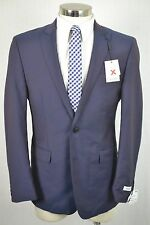 (42R) NEW Calvin Klein Men's Purple Sharkskin Wool SLIM FIT Blazer Sport Coat