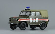 Cars on service. UAZ-469. USSR military road police. Diecast model scale 1/43