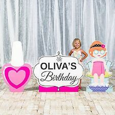 SPA DAY STANDEES * set of three * personalized * standups * girls party *cutouts