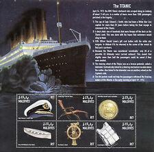 Maldivas 1998 Mnh Titanic 6v m/s buques Barcos White Star Line