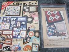 CATS QUILT WALLHANGING SEWING PATTERN + DALE BURDETT CAT BOOK CROSS STITCH MORE