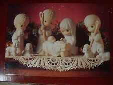 VINTAGE * ENESCO PRECIOUS MOMENTS * COME LET US ADORE HIM * 9 PIECE NATIVITY SET