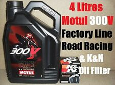 4L MOTUL 300V 10W40 OIL AND K&N KN138 FILTER CHANGE SUZUKI TL1000 SW 98 1998