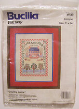 Bucilla COUNTRY HOME SAMPLER Crewel Stitchery Picture Kit #49532 New Sealed