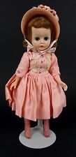 "Vintage 1960s Madame Alexander "" Cissette "" Pink Dress & Bonnet Doll"