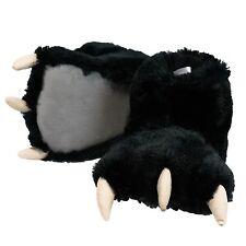 LazyOne Unisex Black Bear Paw Slipper Adult XL