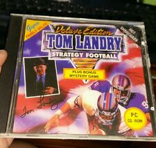 Tom Landry Strategy Football Deluxe Edition  PC GAME - FREE POST