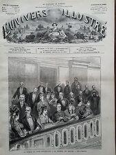 L'UNIVERS ILLUSTRE 1877 N 1183 TRIBUNE DU CORPS DIPLOMATIQUE A LA CHAMBRE DES DE