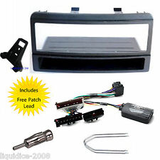 FORD FOCUS 1998 - 2004 SINGLE DIN FITTING KIT STALK ADAPTOR & ALPINE PATCH LEAD
