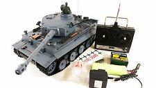 RTR SMOKING SOUND Heng Long 1:16 German Tiger 1 Military Army Battle RC Tank